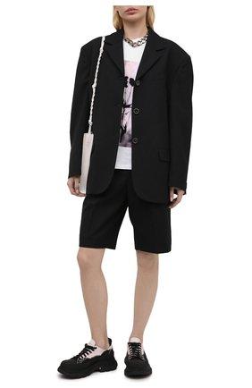 Женская текстильные ботинки tread slick ALEXANDER MCQUEEN черного цвета, арт. 650810/W4PF1   Фото 2