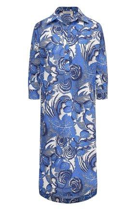 Женское хлопковое платье TAK.ORI голубого цвета, арт. DRT82043C0100SS21 | Фото 1