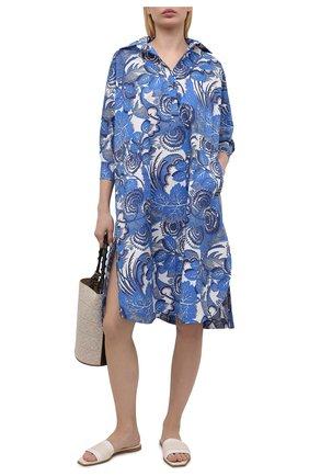 Женское хлопковое платье TAK.ORI голубого цвета, арт. DRT82043C0100SS21 | Фото 2