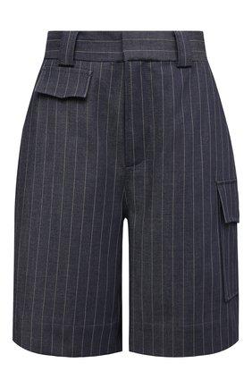 Женские шорты GANNI темно-синего цвета, арт. F5799 | Фото 1