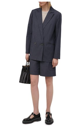 Женские шорты GANNI темно-синего цвета, арт. F5799 | Фото 2