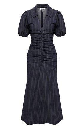 Женское платье GANNI темно-синего цвета, арт. F5800 | Фото 1