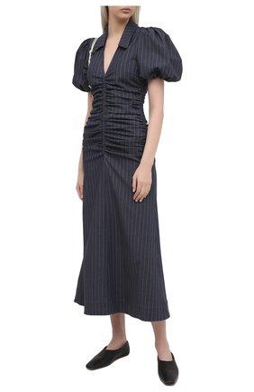 Женское платье GANNI темно-синего цвета, арт. F5800 | Фото 2