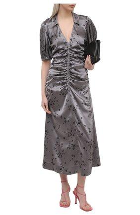 Женское шелковое платье GANNI темно-серого цвета, арт. F5815 | Фото 2