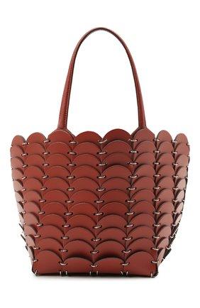 Женская сумка pacoio cab mini PACO RABANNE коричневого цвета, арт. 20ASS0197CLF037 | Фото 1