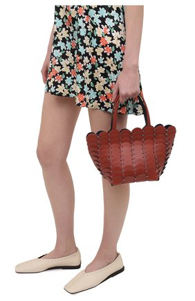Женская сумка pacoio cab mini PACO RABANNE коричневого цвета, арт. 20ASS0197CLF037 | Фото 2