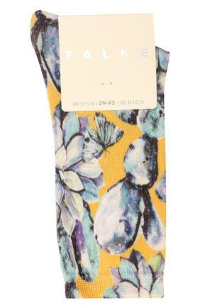 Женские хлопковые носки FALKE белого цвета, арт. 46402 | Фото 1