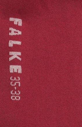 Женские носки FALKE бордового цвета, арт. 47673 | Фото 2