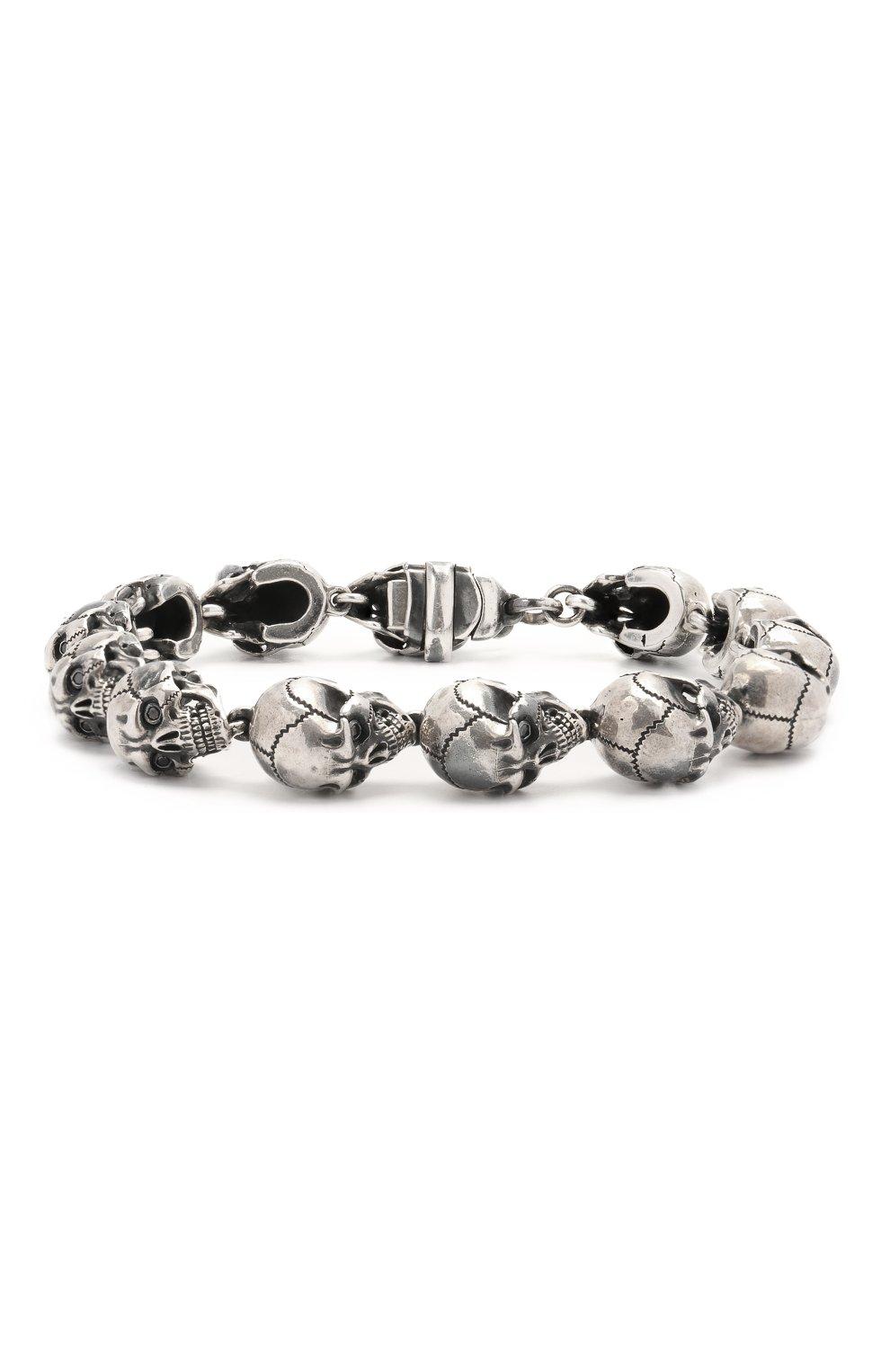 Женский браслет черепа GL JEWELRY серебряного цвета, арт. GL400012-S97-429   Фото 1 (Материал: Серебро)