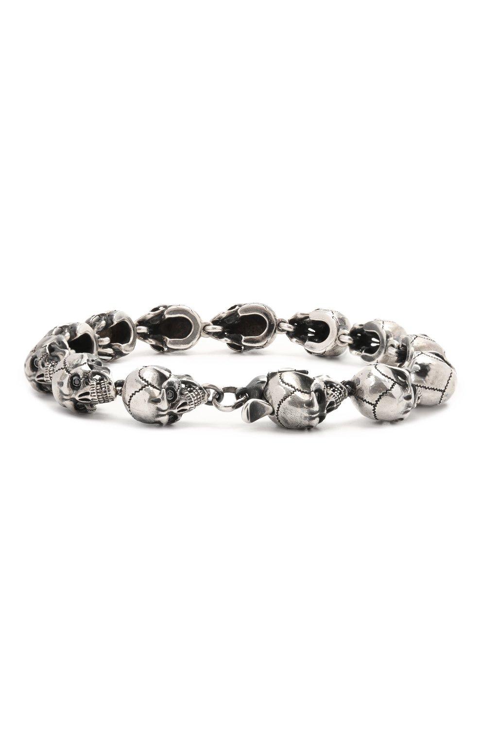 Женский браслет черепа GL JEWELRY серебряного цвета, арт. GL400012-S97-429   Фото 2 (Материал: Серебро)
