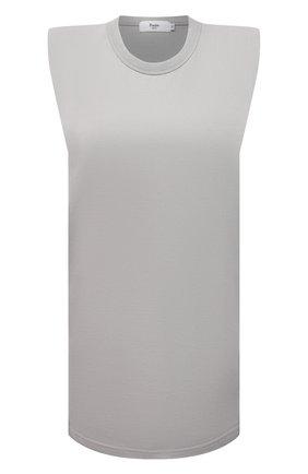 Женское хлопковое платье THE FRANKIE SHOP серого цвета, арт. DR TIN KR 08 | Фото 1