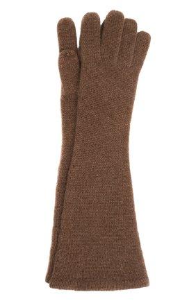 Женские кашемировые перчатки TOTÊME коричневого цвета, арт. 211-892-753 | Фото 1