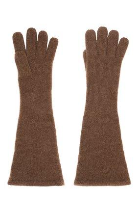 Женские кашемировые перчатки TOTÊME коричневого цвета, арт. 211-892-753 | Фото 2