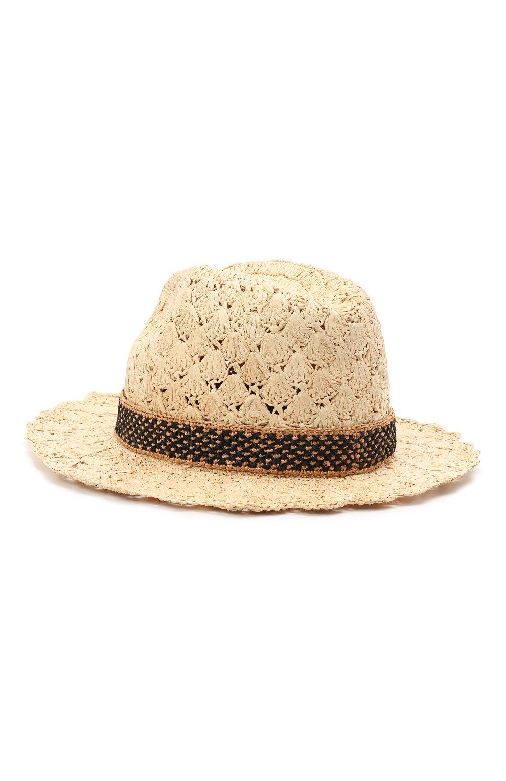 Женская соломенная шляпа valentino x borsalino VALENTINO бежевого цвета, арт. VW2HAA59/QJB | Фото 2 (Материал: Растительное волокно)