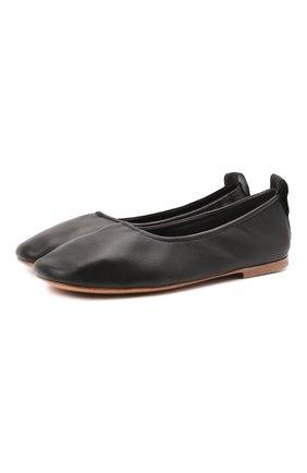 Женские кожаные балетки LANVIN черного цвета, арт. FW-BAFB0M-NAPA-P21 | Фото 1