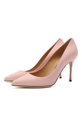 Женские кожаные туфли godiva SERGIO ROSSI розового цвета, арт. A43843-MAGN05 | Фото 1