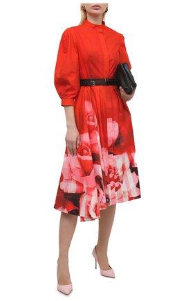 Женские кожаные туфли godiva SERGIO ROSSI розового цвета, арт. A43843-MAGN05 | Фото 2
