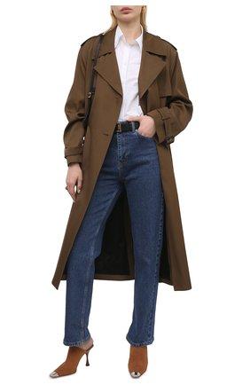 Женские замшевые мюли SERGIO ROSSI коричневого цвета, арт. A92320-MCAZ01 | Фото 2