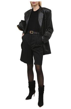 Женские замшевые ботильоны sr cindy SERGIO ROSSI черного цвета, арт. A93100-MCAZ01 | Фото 2