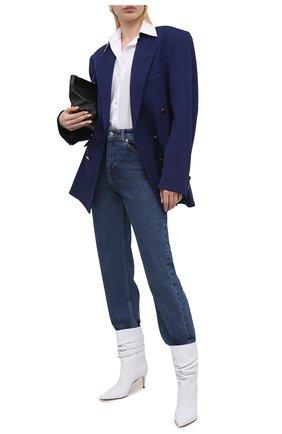 Женские кожаные ботильоны sr cindy SERGIO ROSSI белого цвета, арт. A93100-MMVG08 | Фото 2