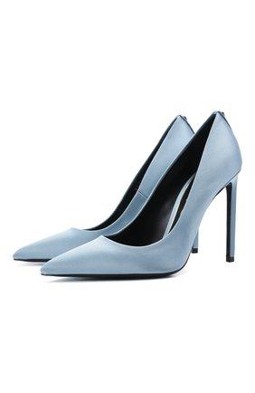 Женские текстильные туфли t-screw TOM FORD голубого цвета, арт. W2325T-STA | Фото 1