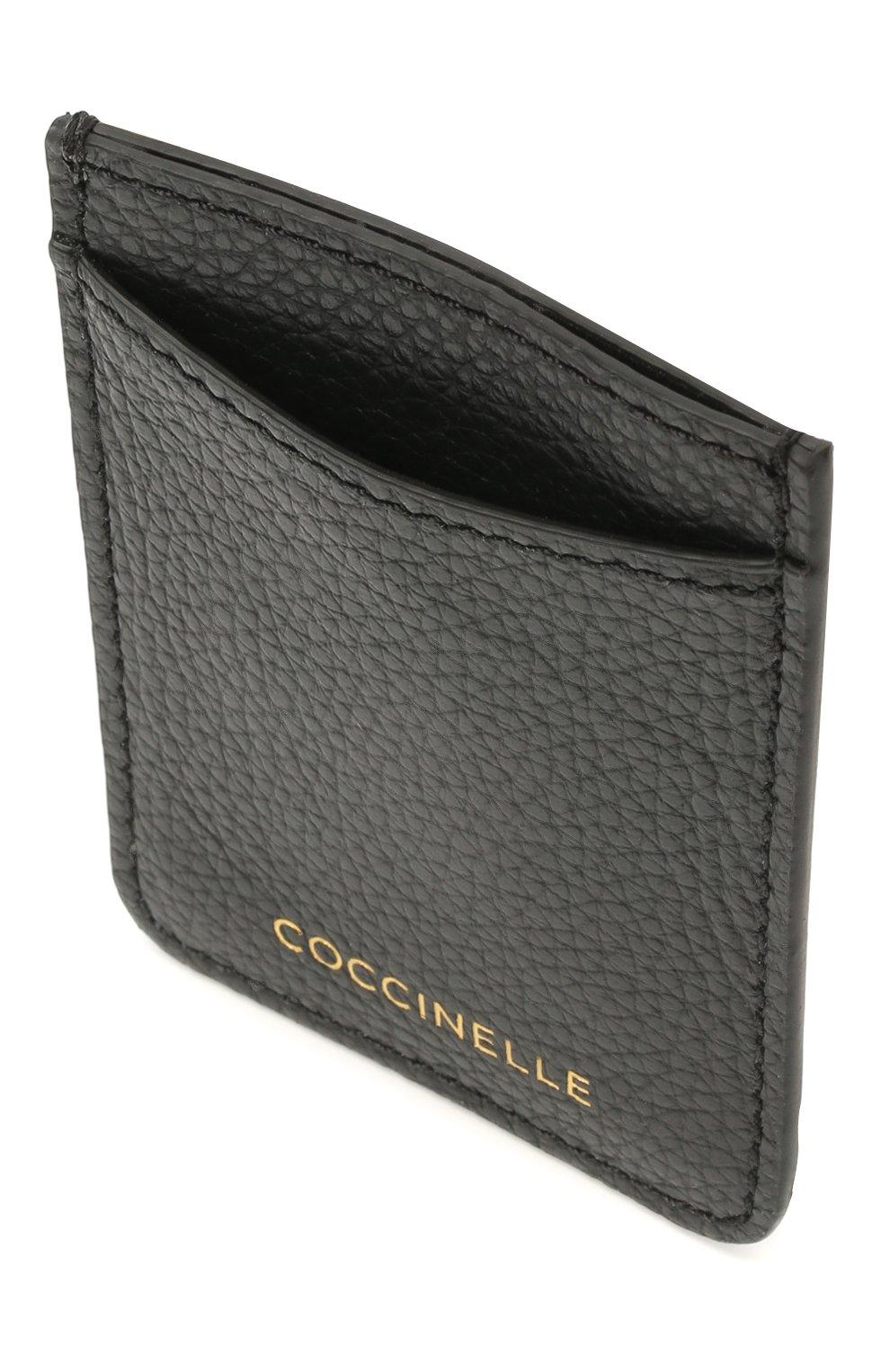 Женский кожаный футляр для кредитных карт COCCINELLE черного цвета, арт. E2 HZ4 42 A0 01 | Фото 2