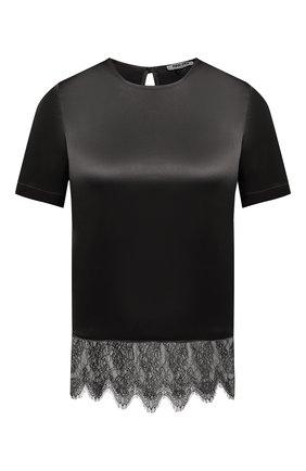 Женский шелковый топ MAX&MOI черного цвета, арт. E21TE0LA | Фото 1