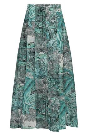 Женская юбка из хлопка и шелка MAX&MOI зеленого цвета, арт. E21JEANNE | Фото 1