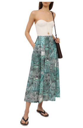 Женская юбка из хлопка и шелка MAX&MOI зеленого цвета, арт. E21JEANNE | Фото 2