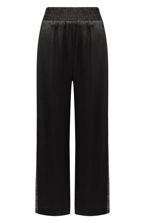Женские шелковые брюки MAX&MOI черного цвета, арт. E21BRYA | Фото 1