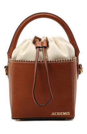 Женская сумка le seau carre JACQUEMUS коричневого цвета, арт. 211BA10/312820 | Фото 1