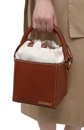 Женская сумка le seau carre JACQUEMUS коричневого цвета, арт. 211BA10/312820 | Фото 2