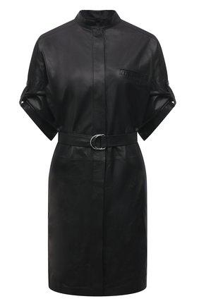 Женское кожаное платье YVES SALOMON черного цвета, арт. 21WYR21096APXX | Фото 1
