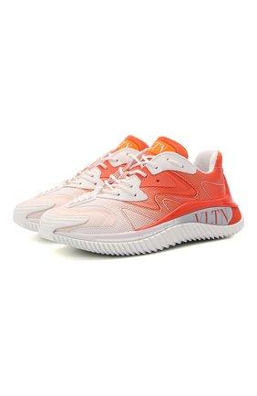 Женские текстильные кроссовки valentino garavani wade runner VALENTINO оранжевого цвета, арт. VW2S0BF4/DDD | Фото 1