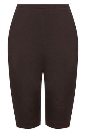 Женские шорты из шерсти и шелка VALENTINO темно-коричневого цвета, арт. VB0RD0856BS | Фото 1