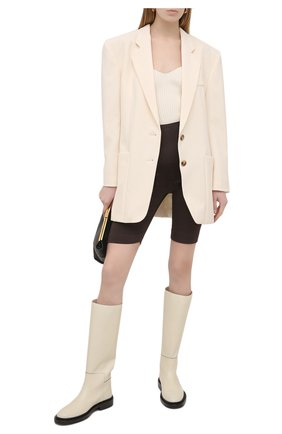 Женские шорты из шерсти и шелка VALENTINO темно-коричневого цвета, арт. VB0RD0856BS | Фото 2