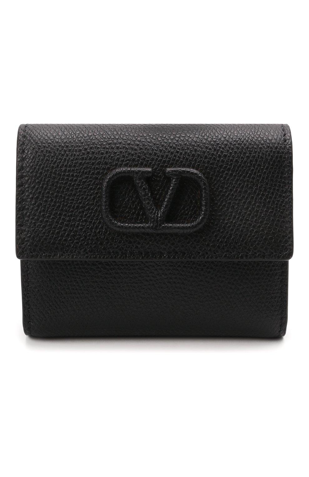 Женские кожаный кошелек valentino garavani VALENTINO черного цвета, арт. VW0P0T39/RQR | Фото 1