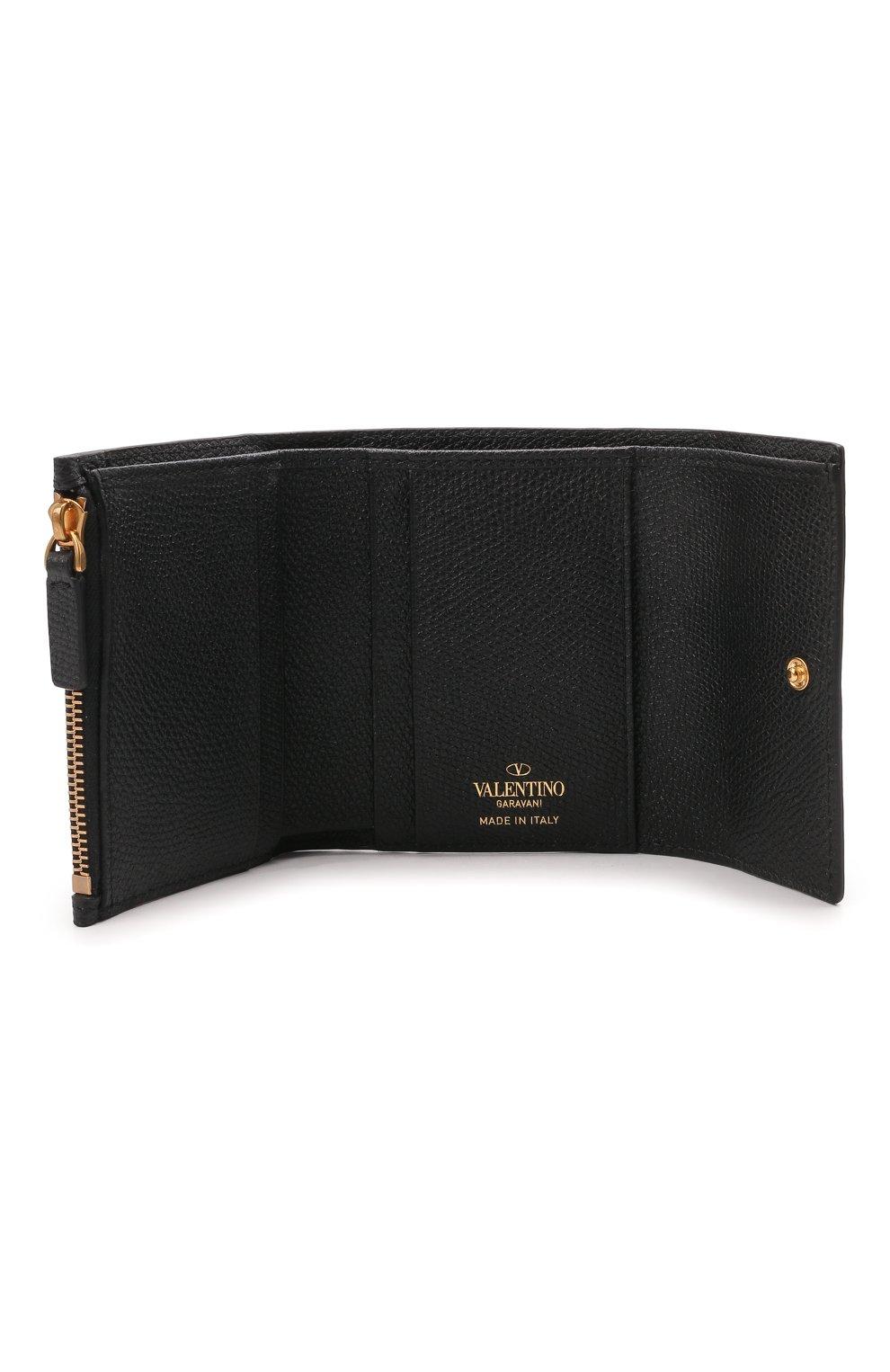 Женские кожаный кошелек valentino garavani VALENTINO черного цвета, арт. VW0P0T39/RQR | Фото 3