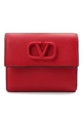 Женские кожаный кошелек valentino garavani VALENTINO красного цвета, арт. VW0P0T39/RQR | Фото 1