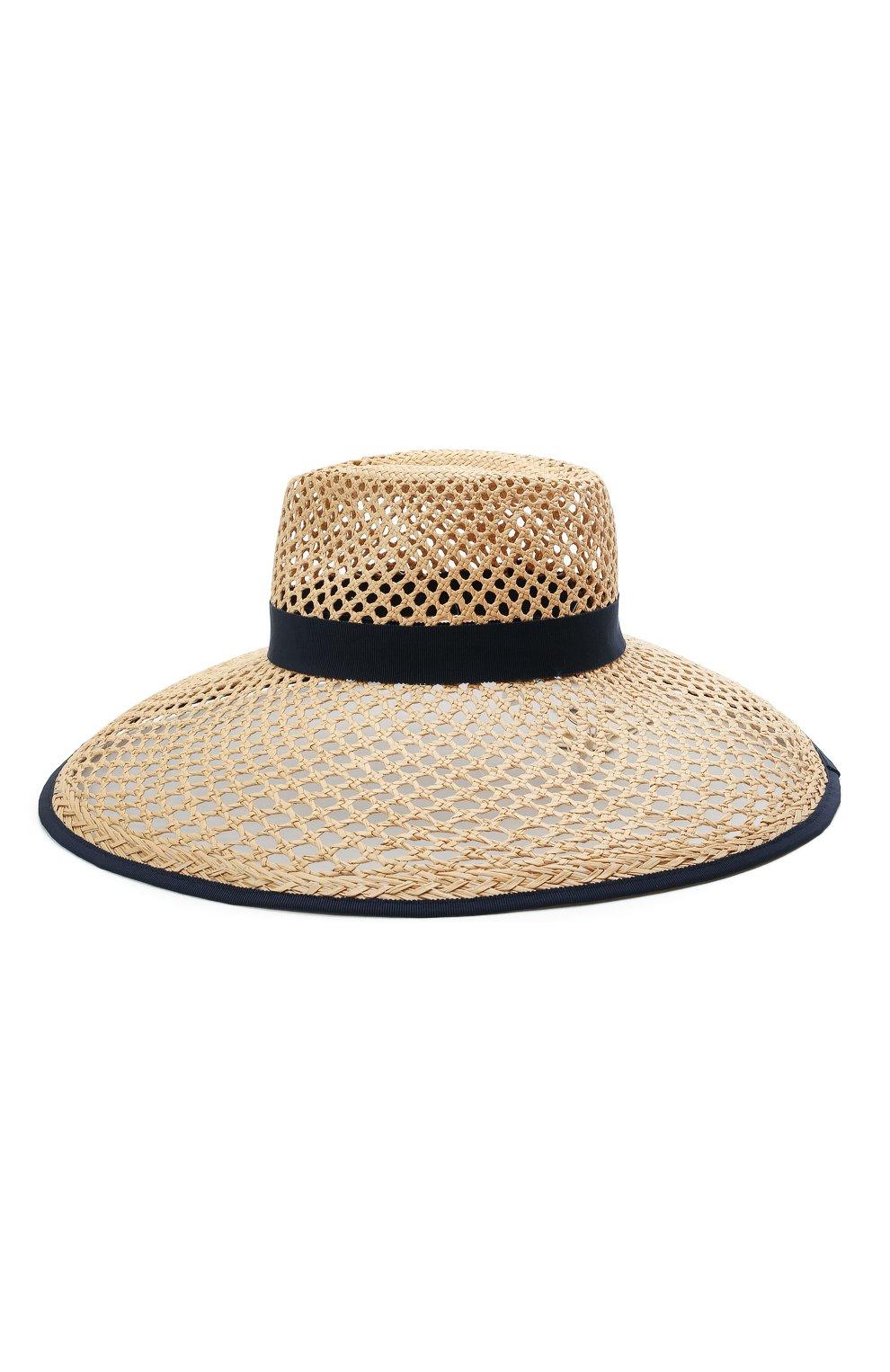 Женская соломенная шляпа INVERNI светло-бежевого цвета, арт. 5207 CP | Фото 2