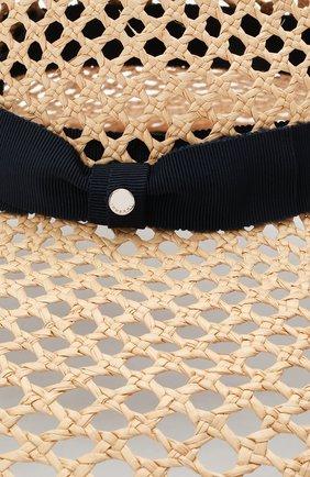 Женская соломенная шляпа INVERNI светло-бежевого цвета, арт. 5207 CP | Фото 3