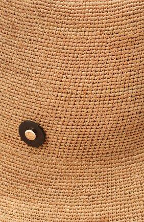 Женская соломенная шляпа INVERNI бежевого цвета, арт. 4458 CP | Фото 3