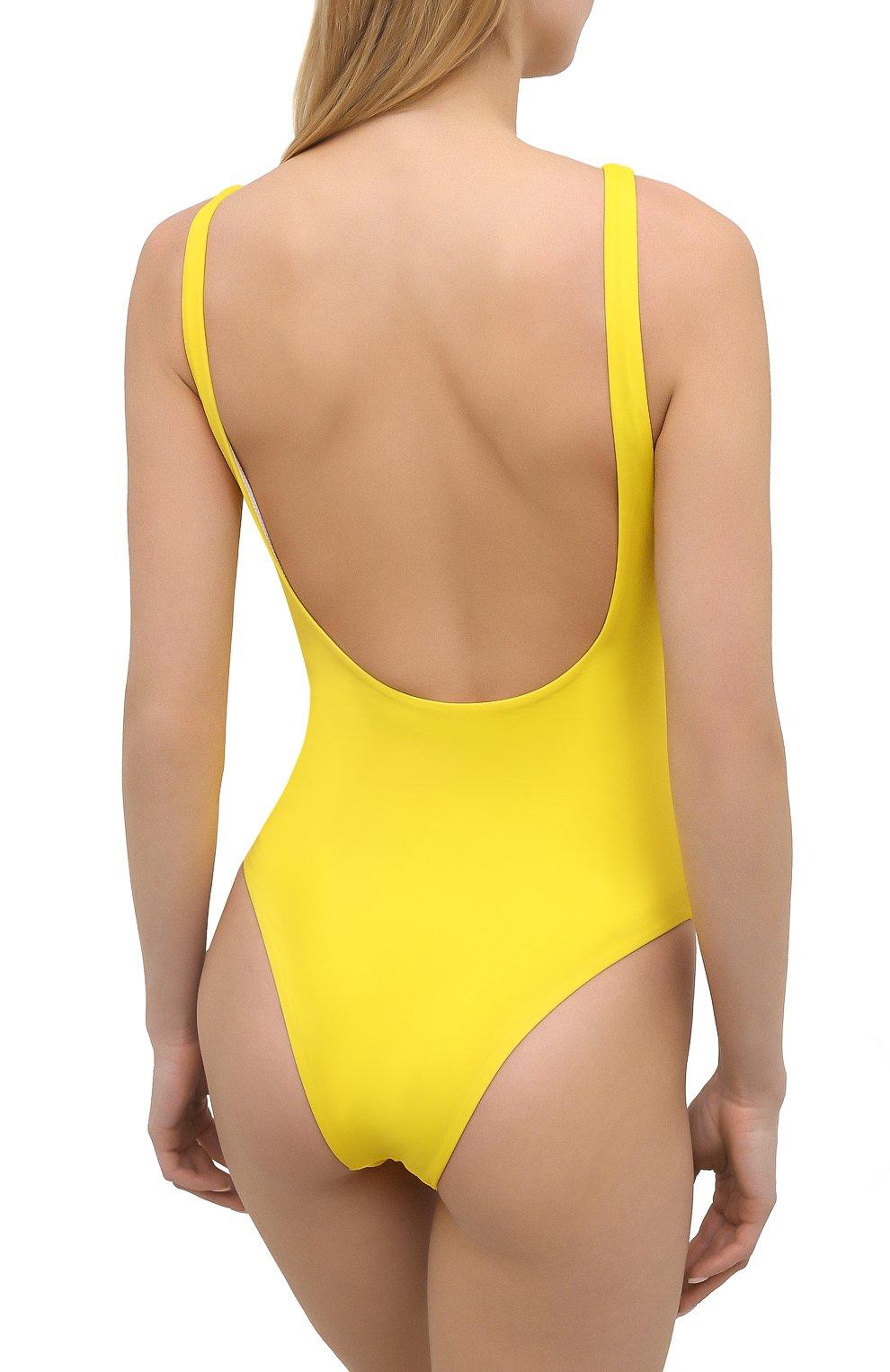 Женский слитный купальник DSQUARED2 желтого цвета, арт. D6BGC2880   Фото 3