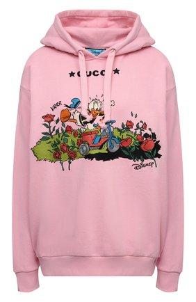 Женский хлопковое худи disney x gucci GUCCI розового цвета, арт. 615061/XJDC7 | Фото 1