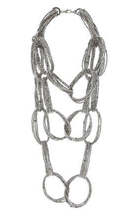 Женское колье BRUNELLO CUCINELLI черного цвета, арт. MC0W9LV38/M   Фото 1