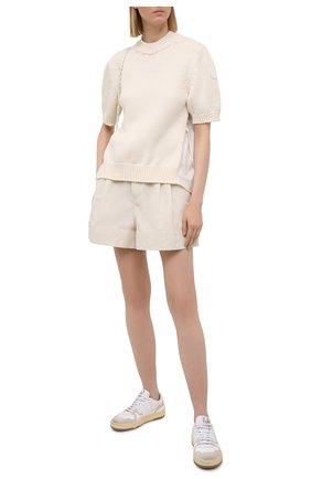 Женские шорты MONCLER кремвого цвета, арт. G1-093-2A747-00-57455 | Фото 2