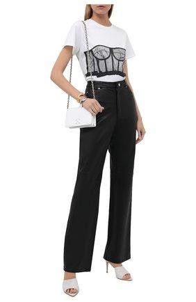 Женская хлопковая футболка ALEXANDER MCQUEEN черно-белого цвета, арт. 659740/QZAC5 | Фото 2 (Материал внешний: Хлопок; Длина (для топов): Стандартные; Рукава: Короткие; Принт: С принтом; Женское Кросс-КТ: Футболка-одежда; Стили: Гламурный)