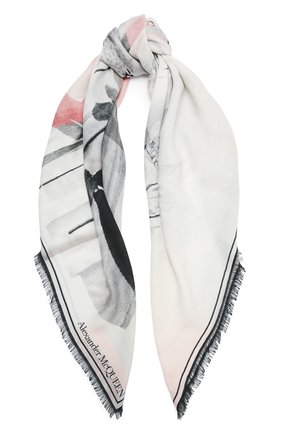 Женская шерстяная шаль ALEXANDER MCQUEEN разноцветного цвета, арт. 650046/3200Q   Фото 1