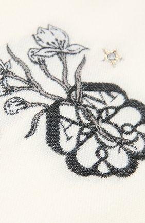 Женский шарф из шерсти и шелка ALEXANDER MCQUEEN белого цвета, арт. 645576/3D06Q | Фото 2