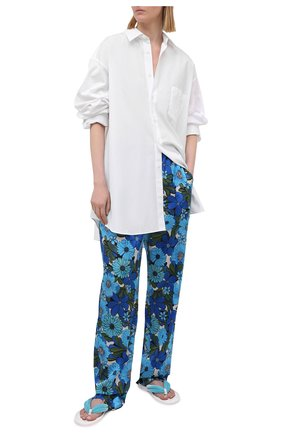 Женские текстильные шлепанцы brighton TOM FORD бирюзового цвета, арт. W2921N-TVE011 | Фото 2